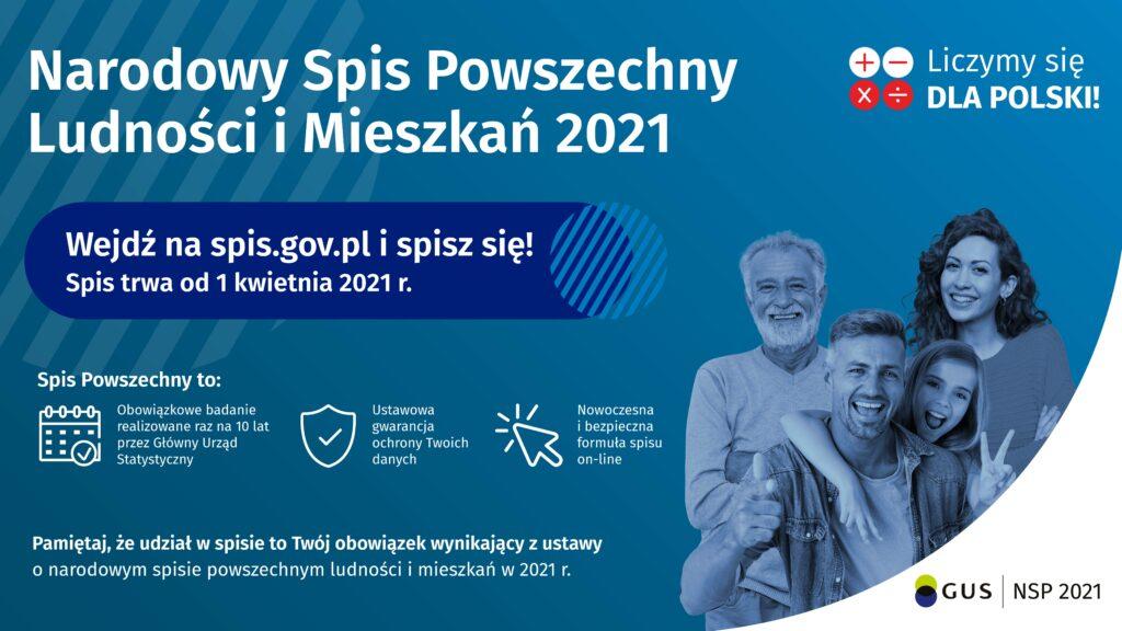 plakat Narodowego Spisu Powszechnego
